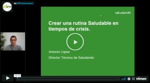 Webinar 'Crear una Rutina Saludable en época de crisis'