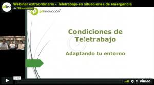 Webinar Extraordinario sobre 'Teletrabajo en situaciones de Emergencia'