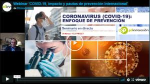 Webinar 'COVID-19, impacto y pautas de prevención Internacional'
