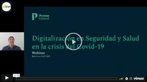 Webinar 'Digitalización en Seguridad y Salud en la crisis del Covid-19'