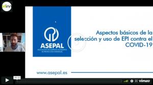 Webinar 'Aspectos básicos de la selección y uso de EPI contra el COVID-19'