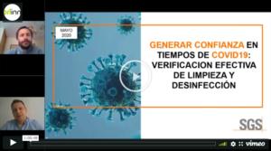 Webinar 'Generar Confianza en tiempo de COVID-19: Verificación efectiva de Limpieza y Desinfección'