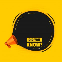 did you know background with megaphone and text space